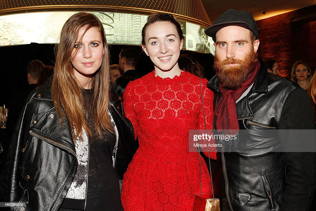 Writer Allyson Shiffman, home editor at Vogue magazine Rebecca Stadlen and painter John Gordon Gauld attend the Brooklyn Museum's 4th annual Brooklyn Artists Ball on April 16, 2014 in the Brooklyn borough of New York City.