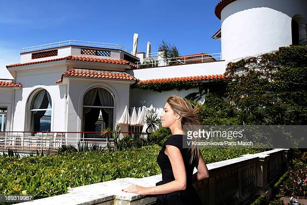 Writer Amanda Sthers is photographed for Paris Match on May 17 2013 in Cannes France
