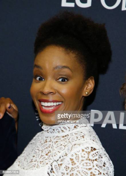 Writer Amber Ruffin attends PaleyFest NY 2017 'Late Night With Seth Meyers' at The Paley Center for Media on October 10 2017 in New York City