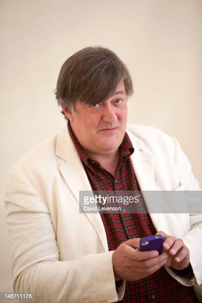 Writer and broadcaster Stephen Fry attends the Hay Festival on June 4 2012 in HayonWye Wales