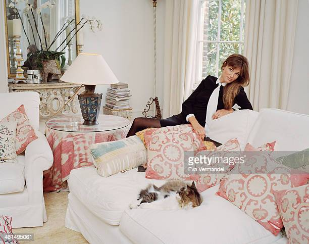 Writer and campaigner Jemima Khan is photographed for the New York Times Style Magazine on May 6 2013 in London England
