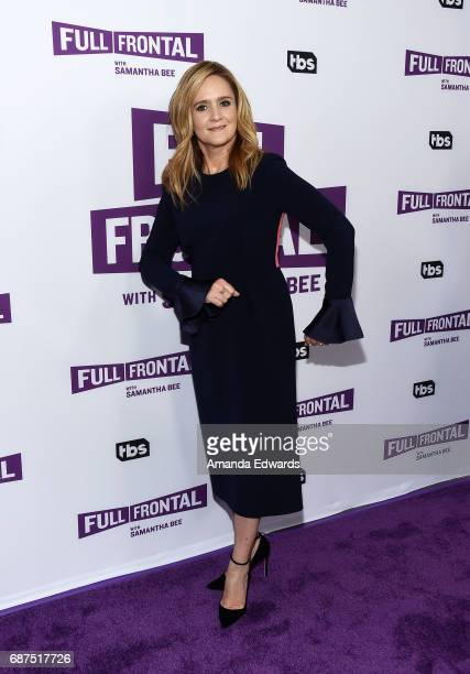 Writer and comedian Samantha Bee arrives at TBS' 'Full Frontal With Samantha Bee' For Your Consideration Event at the Samuel Goldwyn Theater on May...