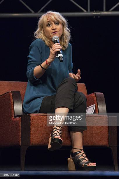Writer and comedy actress Luciana Littizzetto taking part in the event 'the Women's time' at the Teatro dell'Arte of the Triennale Milan 9th...