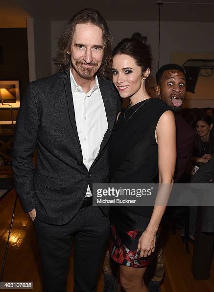 Writer and creator Ray McKinnon and actress Abigail Spencer are photobombed by actor Johnny Ray Gill at the Dinner and Conversation with the creators...