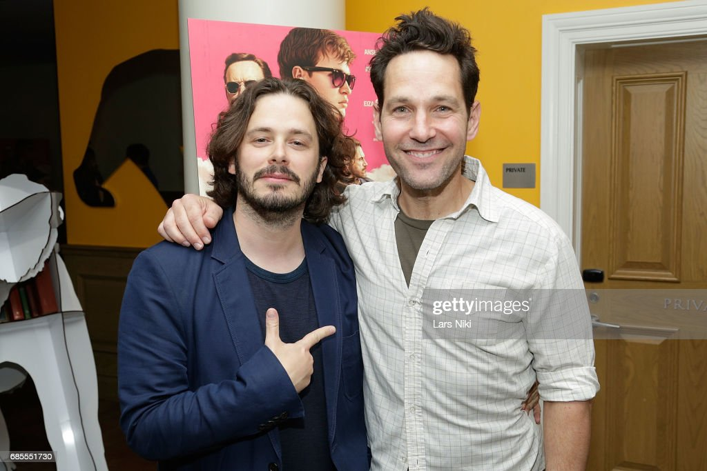 Writer and Director Edgar Wright and Actor Paul Rudd attend the Baby Driver NY Screening Hosted by Aziz Ansari at Crosby Street Hotel on May 19, 2017 in New York City.