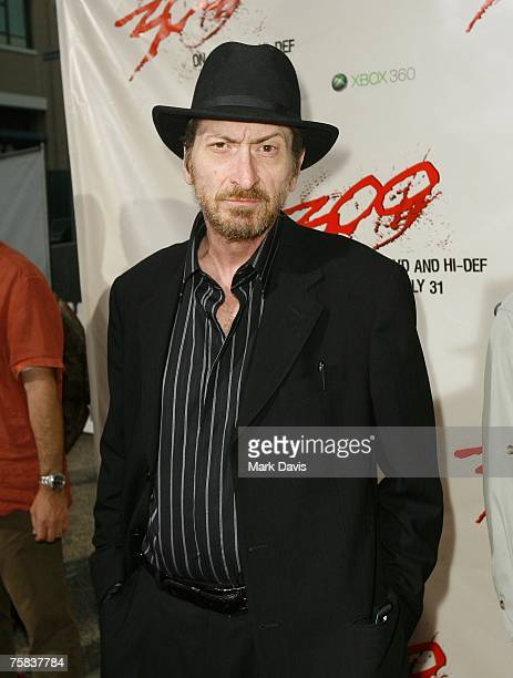 Writer and director Frank Miller poses for photographers at the DVD release for the '300' held at Petco Park Stadium on July 272007 in San Diego...