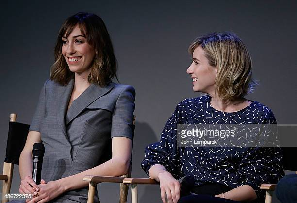 Writer and Director Gia Coppola and Actress Emma Roberts attends the Apple Store Soho Presents Tribeca Film Festival Gia Coppola And Emma...