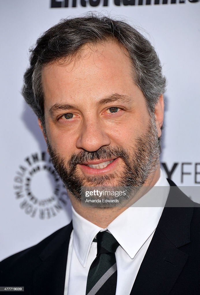 Writer and director <a gi-track='captionPersonalityLinkClicked' href=/galleries/search?phrase=Judd+Apatow&family=editorial&specificpeople=854225 ng-click='$event.stopPropagation()'>Judd Apatow</a> arrives at the 2014 Paleyfest Icon Award ceremony honoring <a gi-track='captionPersonalityLinkClicked' href=/galleries/search?phrase=Judd+Apatow&family=editorial&specificpeople=854225 ng-click='$event.stopPropagation()'>Judd Apatow</a> at The Paley Center for Media on March 10, 2014 in Beverly Hills, California.