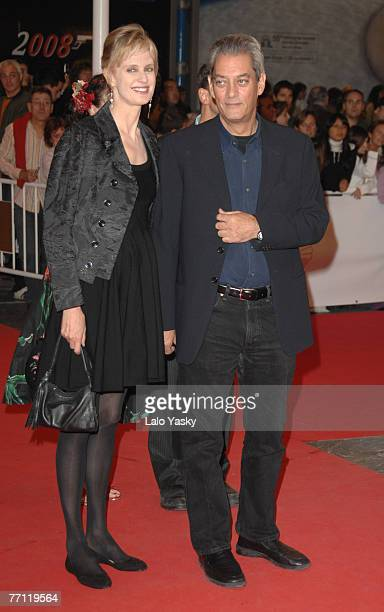 Writer and director Paul Auster and his wife Siri Hustved attend 'Flawless' world premiere and San Sebastian Film Festival awards ceremony at the...