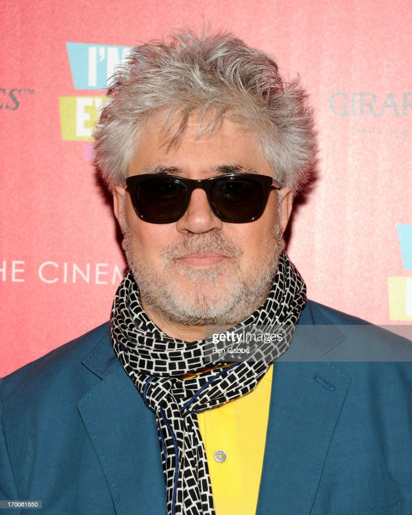Writer and director <a gi-track='captionPersonalityLinkClicked' href=/galleries/search?phrase=Pedro+Almodovar&family=editorial&specificpeople=202502 ng-click='$event.stopPropagation()'>Pedro Almodovar</a> attends a screening of Sony Pictures Classics' 'I'm So Excited' hosted by Girard-Perregaux and The Cinema Society with DeLeon at Sunshine Landmark on June 6, 2013 in New York City.