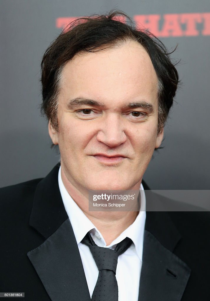 Writer and director <a gi-track='captionPersonalityLinkClicked' href=/galleries/search?phrase=Quentin+Tarantino&family=editorial&specificpeople=171796 ng-click='$event.stopPropagation()'>Quentin Tarantino</a> attends the The New York Premiere Of 'The Hateful Eight' on December 14, 2015 in New York City.