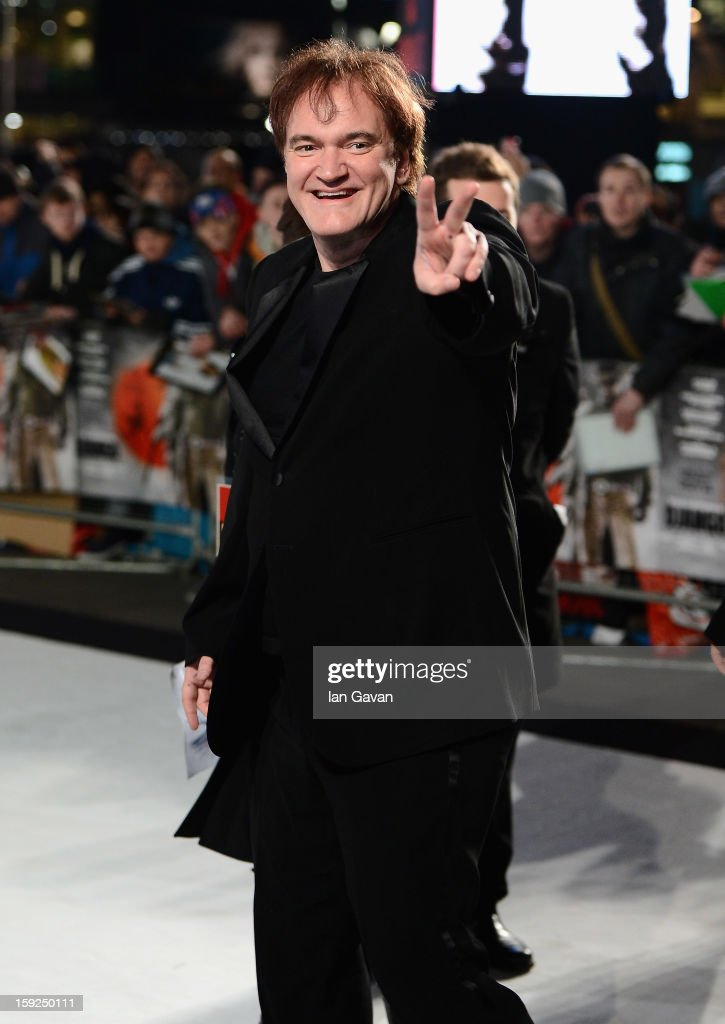 Writer and director Quentin Tarantino attends the UK Premiere of 'Django Unchained' at the Empire Leicester Square on January 10, 2013 in London, England.