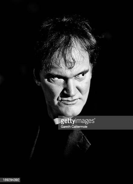 Writer and director Quentin Tarantino attends the UK Premiere of 'Django Unchained' at the Empire Leicester Square on January 10 2013 in London...