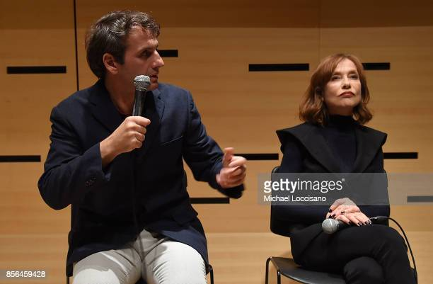 Writer and director Serge Bozon and actress Isabelle Huppert take part in a discussion about the film Making Mrs Hyde during the 55th New York Film...