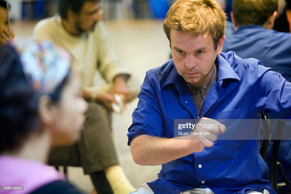 Writer and director Toby Gough in rehearsals for The Merchants of Bollywood at the Yash Raj Studios in Mumbai India The Merchants of Bollywood an...