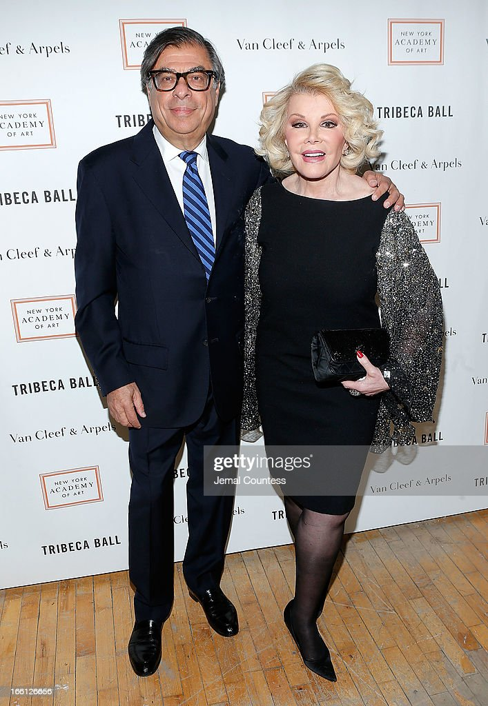 Writer and event honoree Bob Colacello and media personality Joan Rivers attends the 2013 Tribeca Ball at New York Academy of Art on April 8, 2013 in New York City.