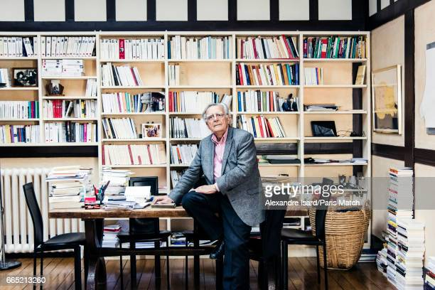 Writer and journalist Bernard Pivot is photographed for Paris Match on March 16 2017 in Paris France