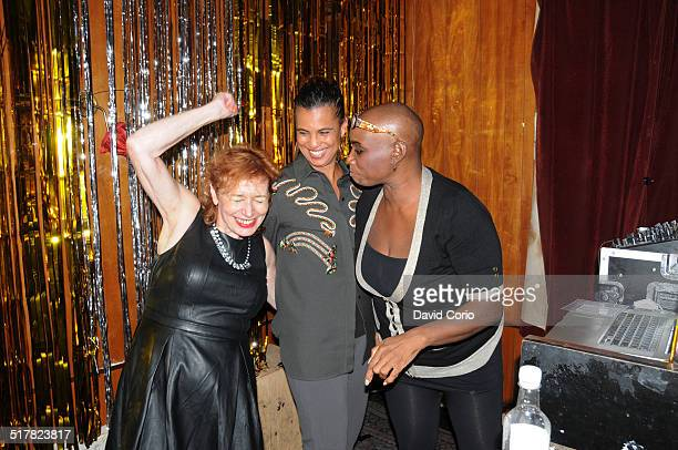 Writer and journalist Vivien Goldman with former Rip Rig and Panic members musician Neneh Cherry and broadcaster Andrea Oliver at The Punky Reggae...
