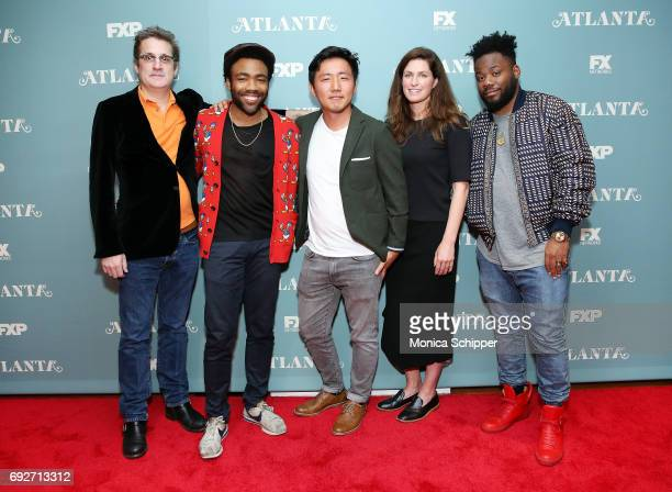 Writer and producer Paul Simms actor writer and executive producer Donald Glover director Hiro Murai executive producer Dianne McGunigle and writer...