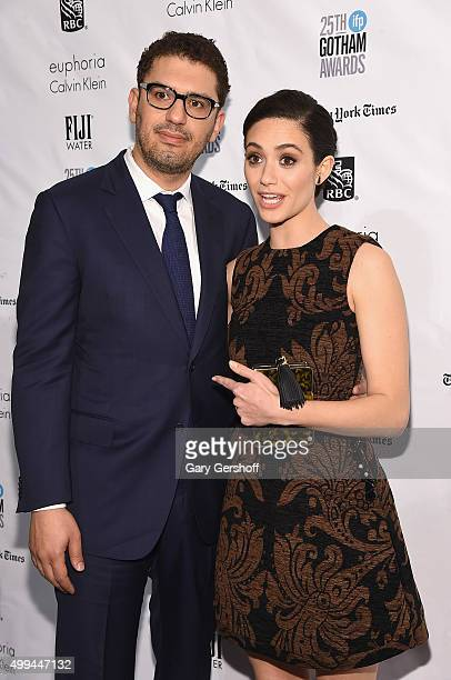 Writer and producer Sam Esmail and actress Emmy Rossum attend the 25th Annual Gotham Independent Film Awards at Cipriani Wall Street on November 30...