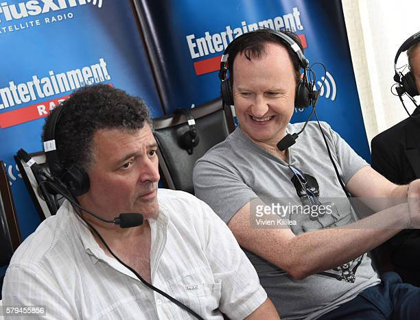Writer and producer Steven Moffat and actor Mark Gatiss attend SiriusXM's Entertainment Weekly Radio Channel Broadcasts From ComicCon 2016 at Hard...