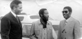 Writer and social activist Dick Gregory and Jonathan Howard having a conversation 1973