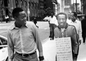 Writer and social activist Dick Gregory during a protest 1972