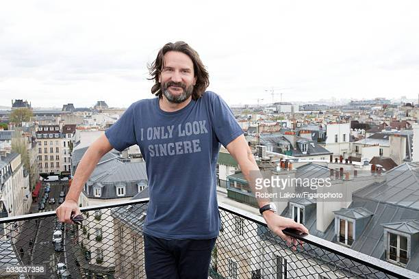 Writer and TV presenter Frederic Beigbeder is photographed for Madame Figaro on April 29 2016 in Paris France PUBLISHED IMAGE CREDIT MUST READ Robert...
