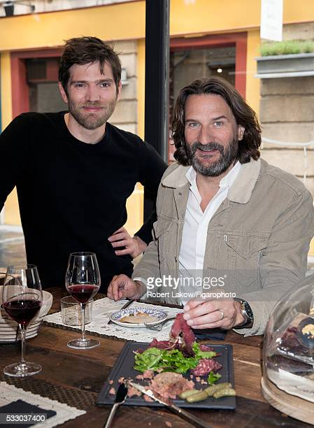 Writer and TV presenter Frederic Beigbeder is with Alexandre Polmard photographed for Madame Figaro on April 29 2016 in Paris France PUBLISHED IMAGE...