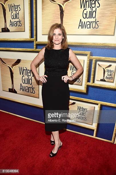 Writer Andrea Berloff attends the 2016 Writers Guild Awards at the Hyatt Regency Century Plaza on February 13 2016 in Los Angeles California