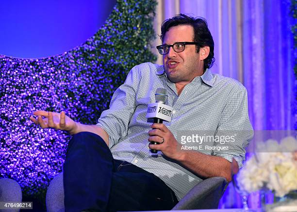 Writer Andrew Kreisberg of 'The Flash' speaks at Variety's A Night In The Writers' Room at the Four Seasons on June 9 2015 in Los Angeles California