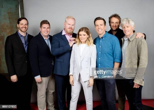 Writer Andrew Logan Jim Gaffigan writer Taylor Allen Kara Mara Jason Clarke director John Curran and actor Ed Helms from the film 'Chappaquiddick'...