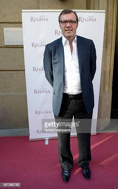 Writer Andrew Morton poses during Sant Jordi day celebrations on April 23 2013 in Barcelona Spain Sant Jordi is a Catalan holiday and is similiar to...