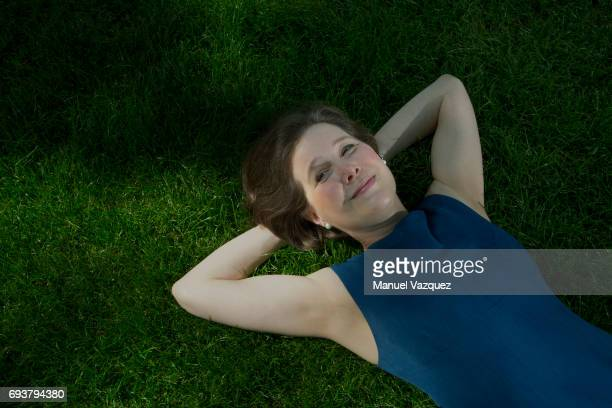 Writer Ann Patchett is photographed for NRC Handelsblad Holland on May 25 2017 in London England