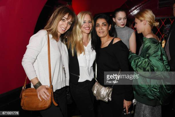 Writer Anna Veronique El Baze and actresses Julie Nicolet and Fatima Adoum attend 'Lost Control' Stefanie Renoma Photo Exhibition After Party at...