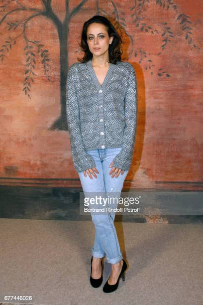 Writer Anne Berest attends the Chanel Cruise 2017/2018 Collection Show Photocall Held at Grand Palais on May 3 2017 in Paris France