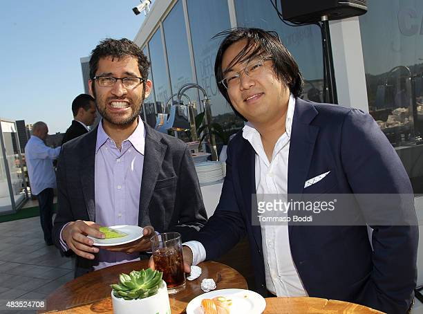 Writer Anthony Burch and Producer/Creator/Writer Freddie Wong attend the Hulu 2015 Summer TCA Presentation at The Beverly Hilton Hotel on August 9...