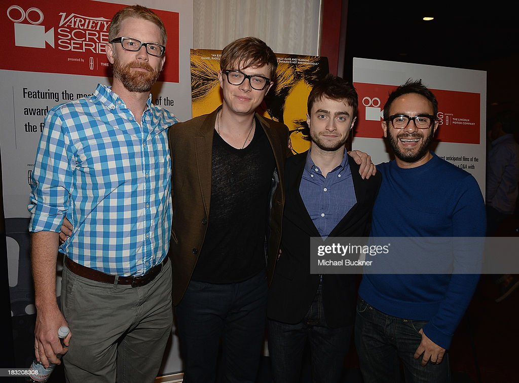 Writer Austin Bunn, actor Dane DeHaan, actor Daniel Radcliffe and director John Krokidas speak at the Q&A for the Variety Screening Series Presents Sony Pictures Classics' 'Kill Your Darlings' at ArcLight Hollywood on October 5, 2013 in Hollywood, California.