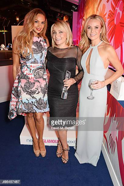 Writer Award winner Helen Fielding poses with presenters Alesha Dixon and Amanda Holden at the Glamour Women of the Year Awards in Berkeley Square...
