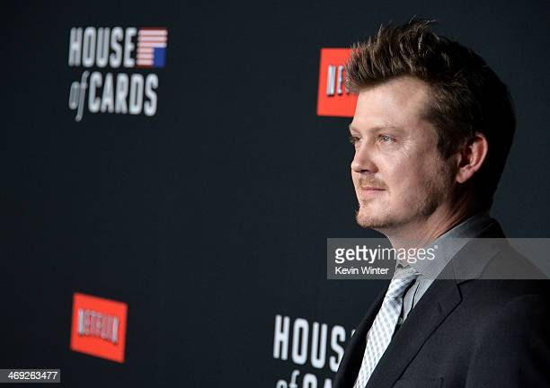 Writer Beau Willimon arrives at the special screening of Netflix's 'House of Cards' Season 2 at the Directors Guild Of America on February 13 2014 in...