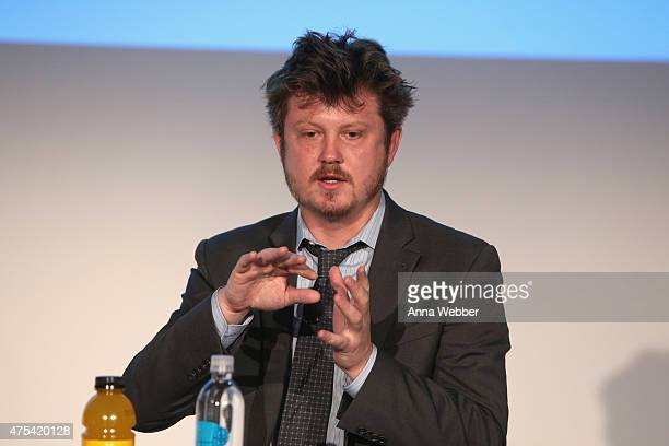 Writer Beau Willimon speaks on stage during Vulture Festival Presents Beau Willimon In Conversation at Milk Studios on May 31 2015 in New York City