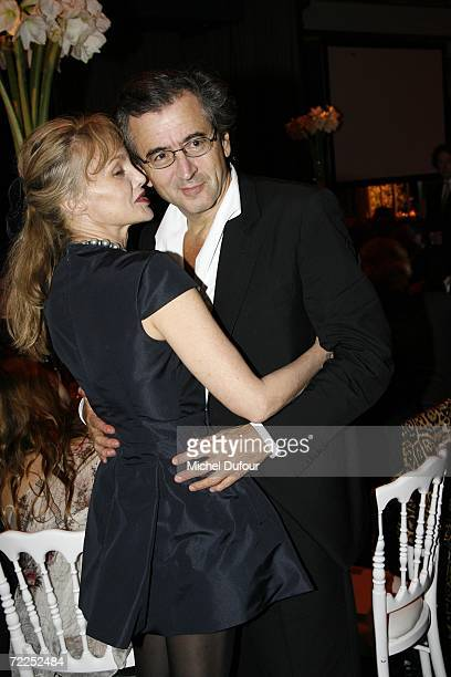 Writer Bernard Henri Levy and Arielle Dombasle attend the Scopus Awards celebration at the Pavillon Gabriel on October 23 2006 in Paris France...
