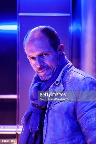 Writer Bernard Minier is photographed for Paris Match on March 14 2017 in Paris France
