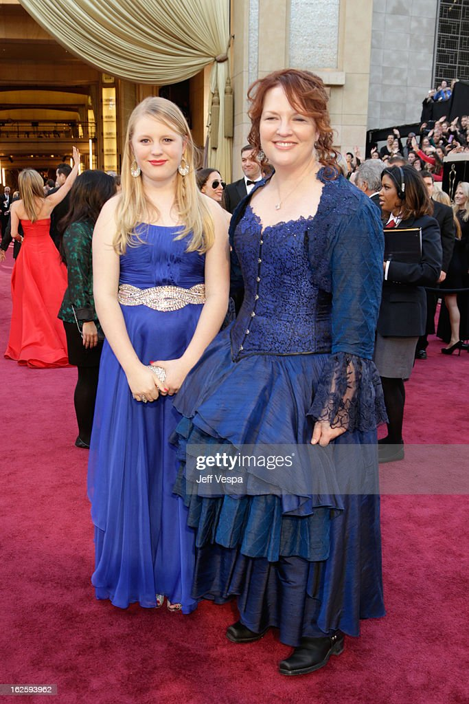 Writer <a gi-track='captionPersonalityLinkClicked' href=/galleries/search?phrase=Brenda+Chapman&family=editorial&specificpeople=5707596 ng-click='$event.stopPropagation()'>Brenda Chapman</a> (R) arrives at the Oscars at Hollywood & Highland Center on February 24, 2013 in Hollywood, California.