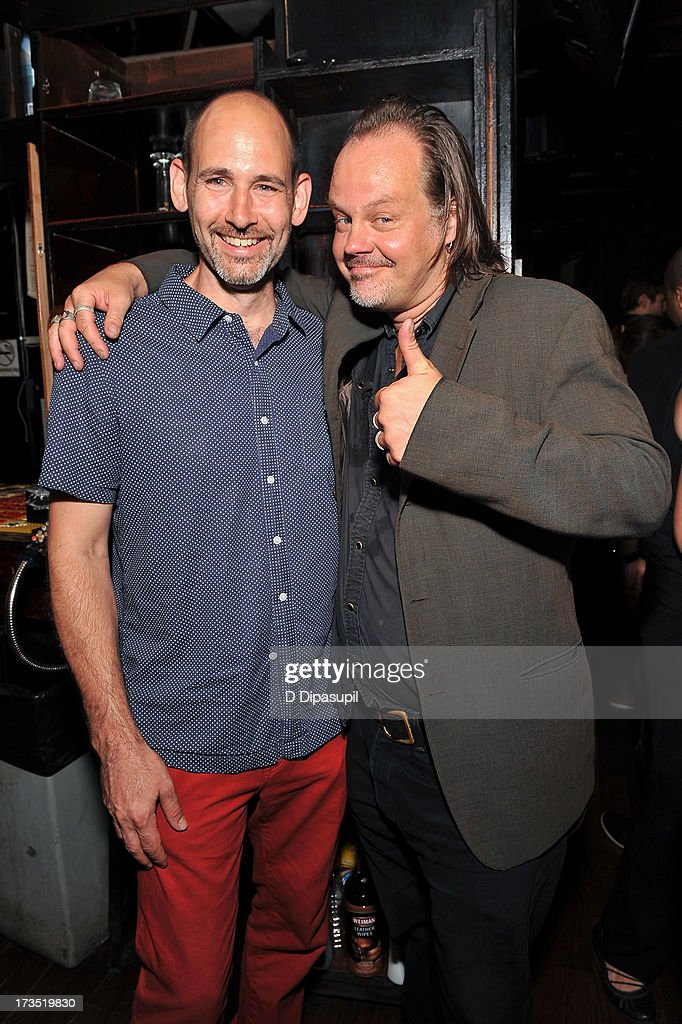 Writer Brian D. Smith (L) and director Larry Fessenden attend the Glass Eye Pix 'Beneath' Premiere Event - After Party at Oliver's City Tavern on July 15, 2013 in New York City.