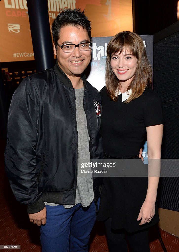 Writer Bryan Lee O'Malley and actress Mary Elizabeth Winstead attend the screening of 'Scott Pilgrim Vs The World' during the Entertainment Weekly...