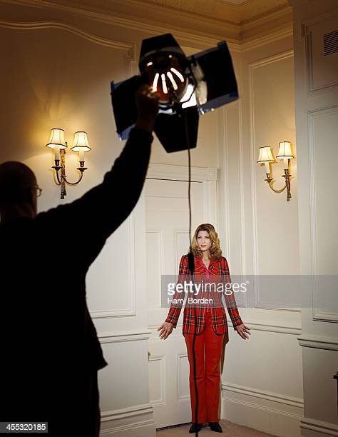 Writer Candace Bushnell is photographed for the Scotland on Sunday on February 4 2001 in London England