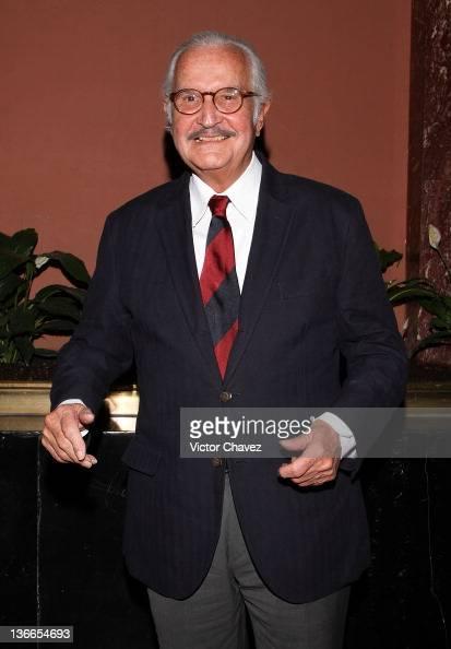 Writer Carlos Fuentes attends the Pedro Armendariz Jr tribute at Palacio de Bellas Artes on January 9 2012 in Mexico City Mexico