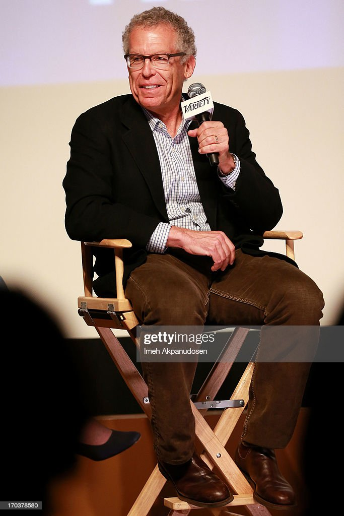 Writer <a gi-track='captionPersonalityLinkClicked' href=/galleries/search?phrase=Carlton+Cuse&family=editorial&specificpeople=854249 ng-click='$event.stopPropagation()'>Carlton Cuse</a> speaks onstage during Variety's A Night In The Writers' Room at Writers Guild Theater on June 11, 2013 in Beverly Hills, California.