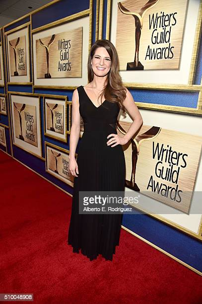 Writer Carrie Kemper attends the 2016 Writers Guild Awards at the Hyatt Regency Century Plaza on February 13 2016 in Los Angeles California